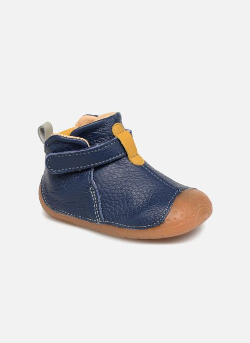 Velcro shoes Babybotte ZAK Blue detailed view/ Pair view