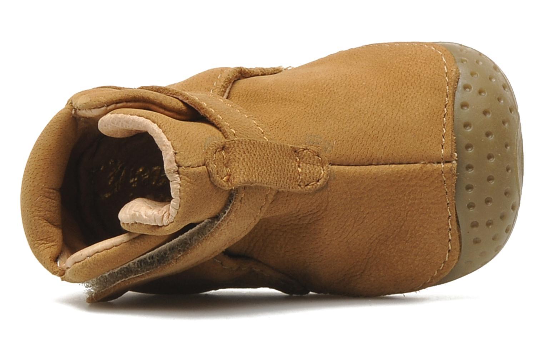 Chaussures à scratch Babybotte ZAK Marron vue gauche