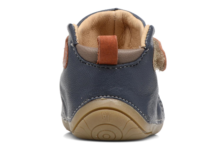 Chaussures à scratch Babybotte ZAK Bleu vue droite