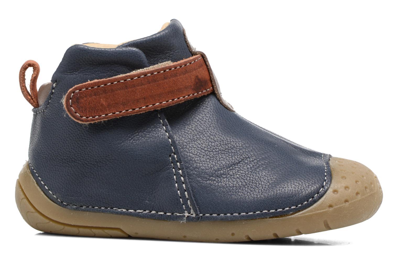 Chaussures à scratch Babybotte ZAK Bleu vue derrière