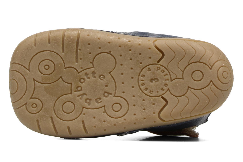 Chaussures à scratch Babybotte ZAK Bleu vue haut