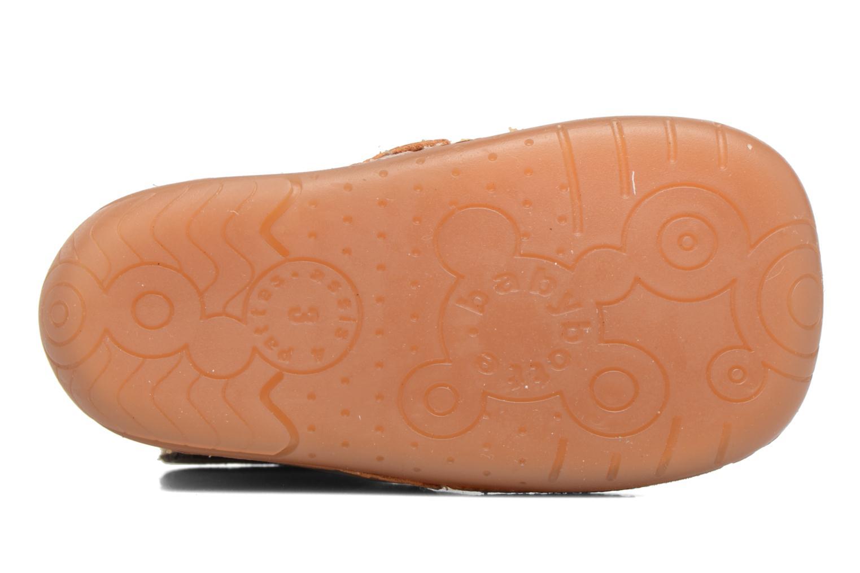Chaussures à scratch Babybotte ZAK Jaune vue haut