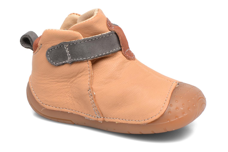 Chaussures à scratch Babybotte ZAK Jaune vue détail/paire