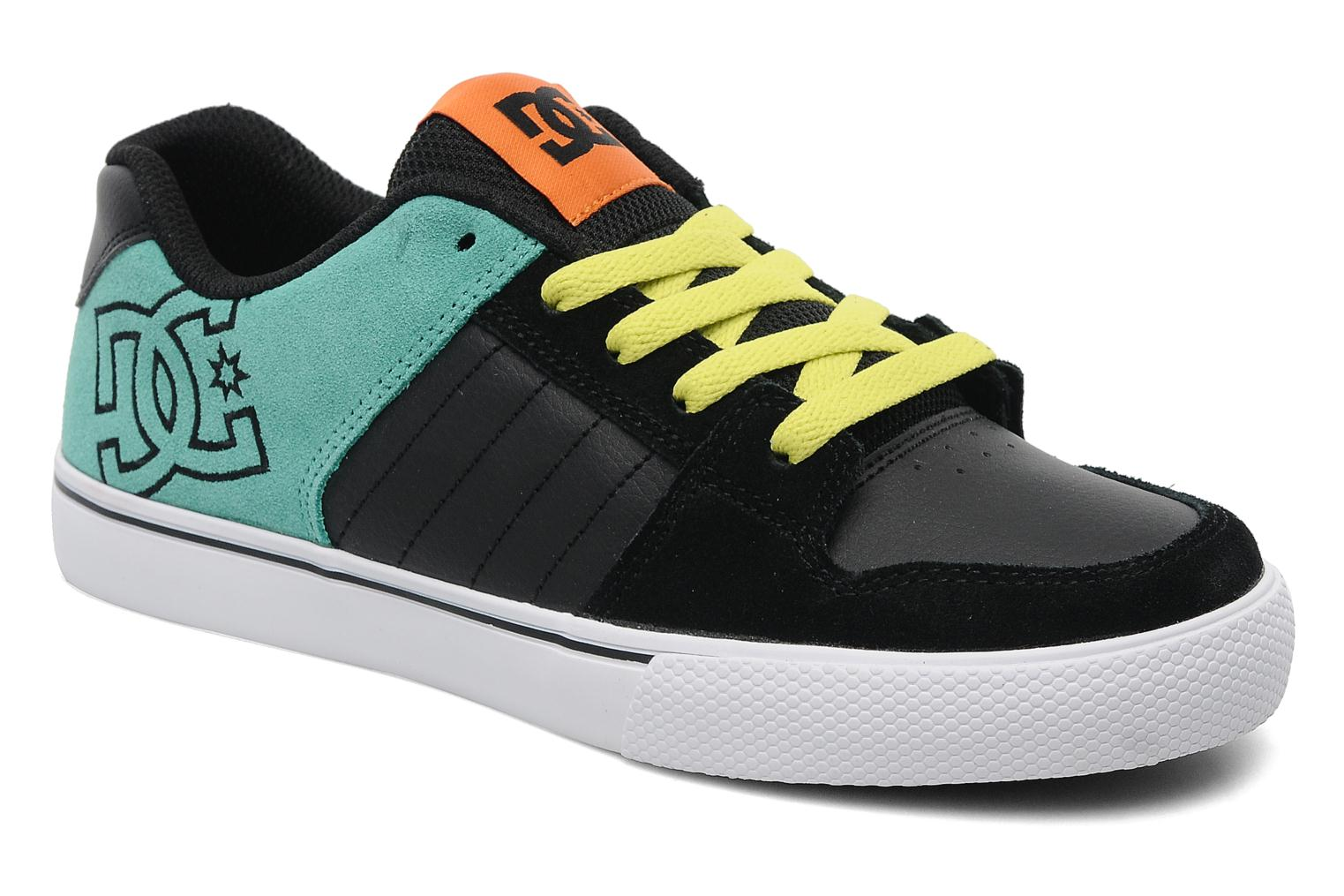 Baskets DC Shoes Chase1 Bleu vue détail/paire