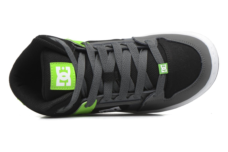 Baskets DC Shoes REBOUND B Vert vue gauche