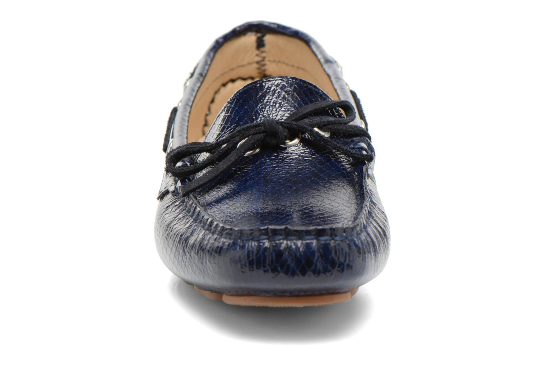 Mocassins Georgia Rose Palarica Bleu vue portées chaussures
