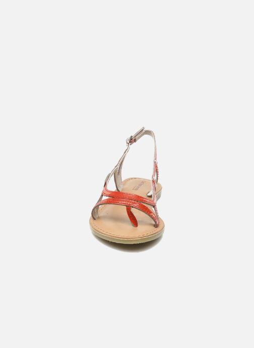 Sandales et nu-pieds Les Tropéziennes par M Belarbi ISATIS E Rouge vue portées chaussures