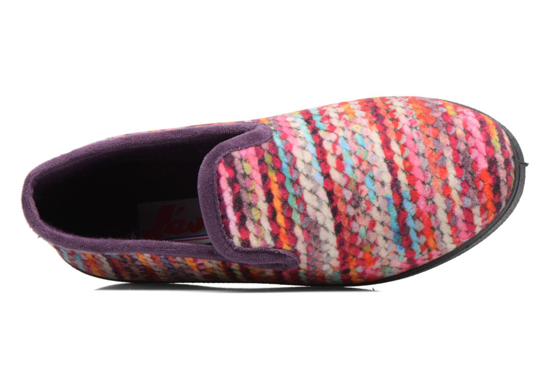 Pantuflas Rondinaud Morlaix w Multicolor vista lateral izquierda