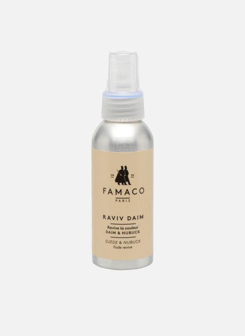 Plejeprodukter Famaco Imprægnering uden gas - Ny vitalitet til ruskind Farveløs detaljeret billede af skoene