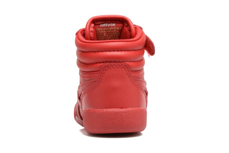 Baskets Reebok F/S Hi-E Rouge vue droite