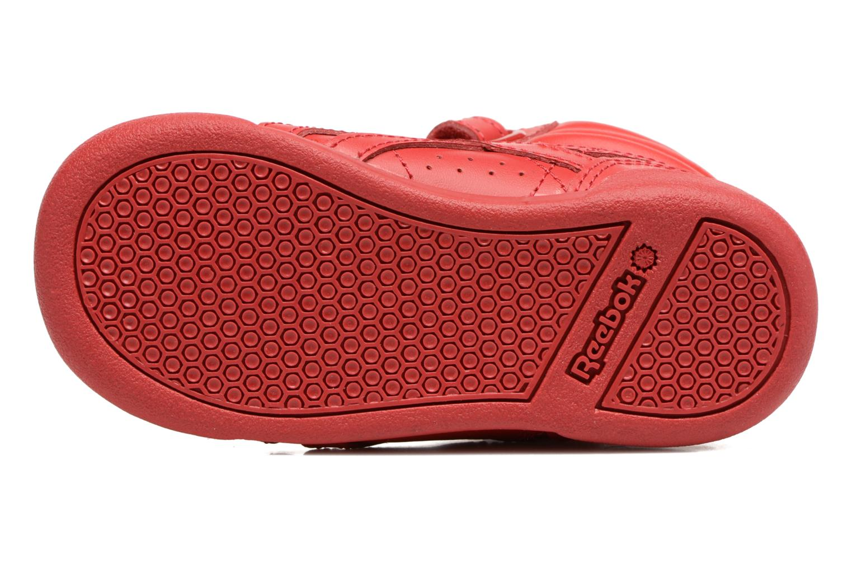 Baskets Reebok F/S Hi-E Rouge vue haut