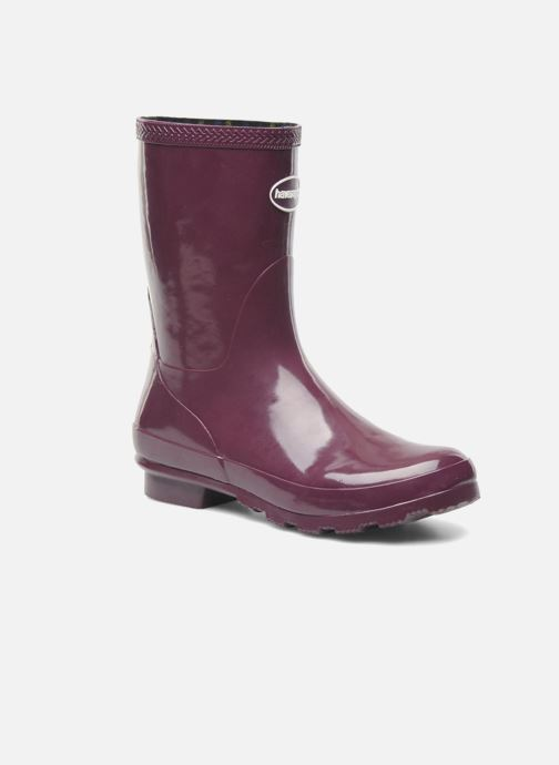 Ankle boots Havaianas Helios Mid Rain Boots Purple detailed view/ Pair view