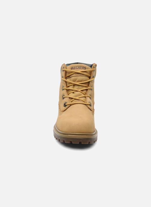 Bottines et boots Skechers Mecca Lumberjack Jaune vue portées chaussures