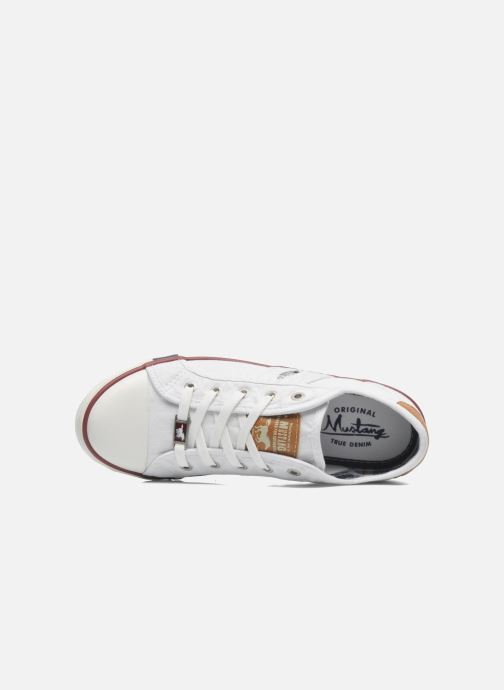 Baskets Mustang shoes Pitaya Blanc vue gauche