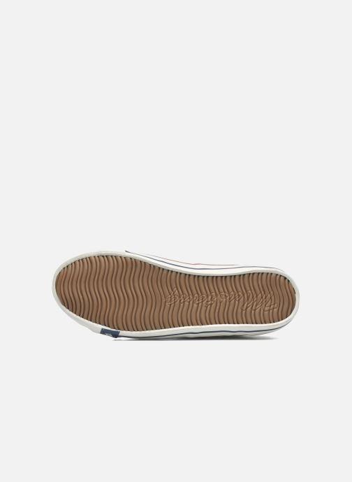 Baskets Mustang shoes Pitaya Blanc vue haut