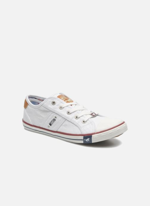 Baskets Mustang shoes Pitaya Blanc vue détail/paire