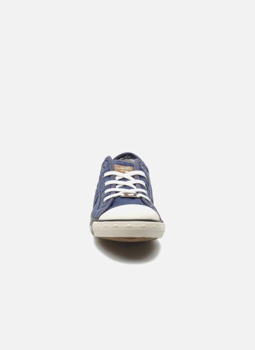 Sneaker Mustang shoes Pitaya blau schuhe getragen