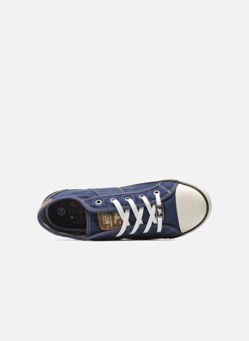 Sneaker Mustang shoes Pitaya blau ansicht von links