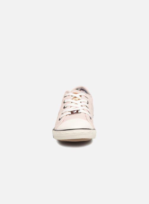 Sneaker Mustang shoes Pitaya rosa schuhe getragen