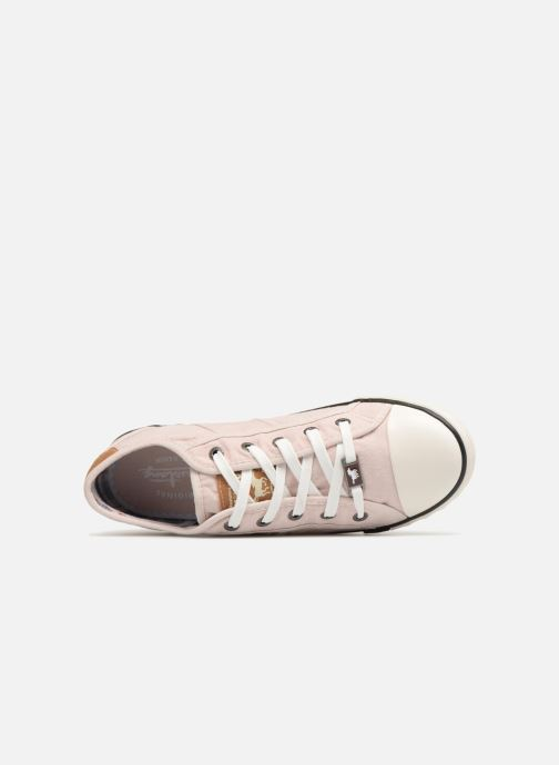 Sneaker Mustang shoes Pitaya rosa ansicht von links