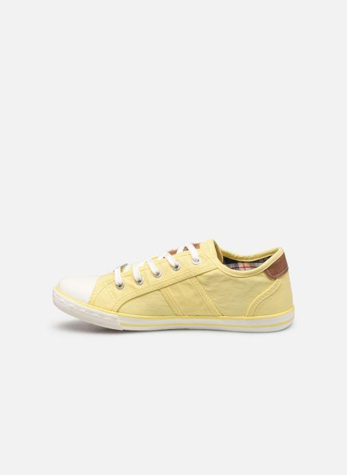 Baskets Mustang shoes Pitaya Jaune vue face
