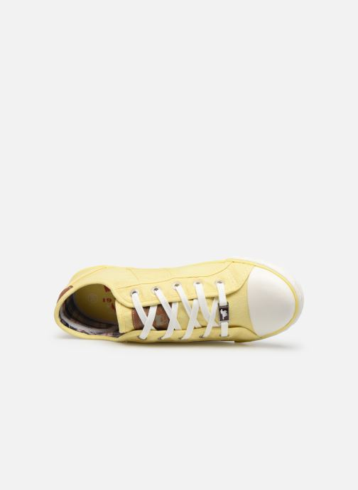 Baskets Mustang shoes Pitaya Jaune vue gauche