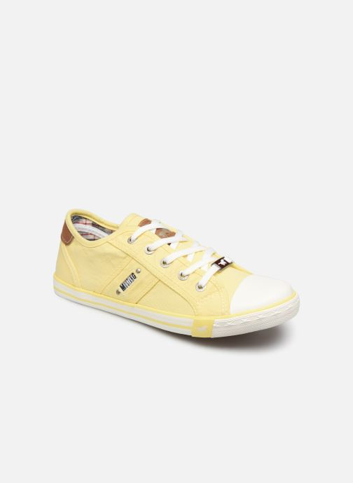Baskets Mustang shoes Pitaya Jaune vue détail/paire