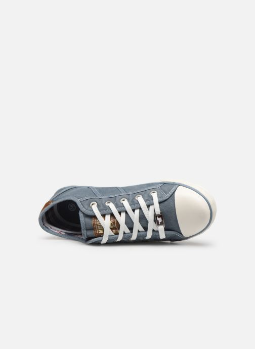 Baskets Mustang shoes Pitaya Bleu vue gauche