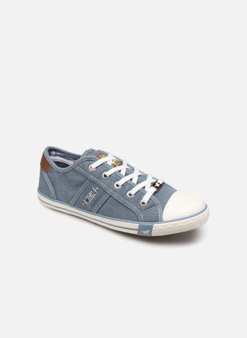 Baskets Mustang shoes Pitaya Bleu vue détail/paire