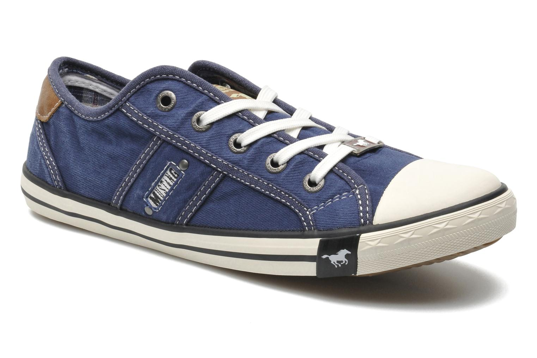 Baskets Mustang shoes Pitaya Bleu vue détail/paire