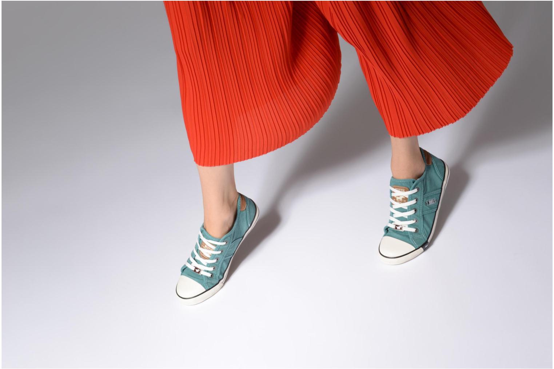 Baskets Mustang shoes Pitaya Vert vue bas / vue portée sac