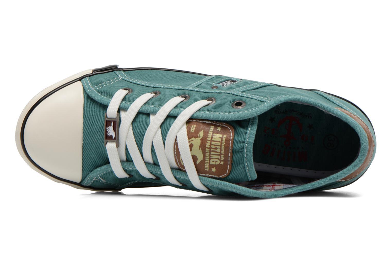 Baskets Mustang shoes Pitaya Vert vue gauche