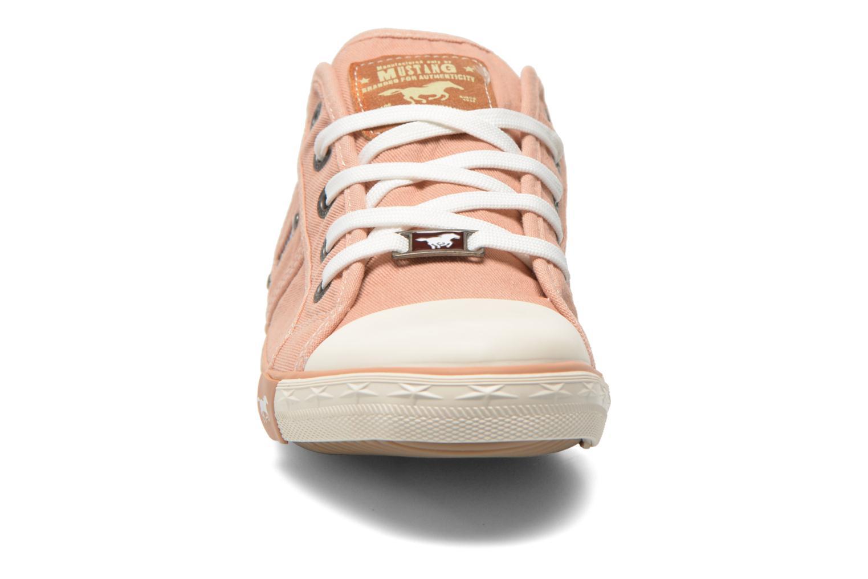 Sneaker Mustang shoes Pitaya orange schuhe getragen