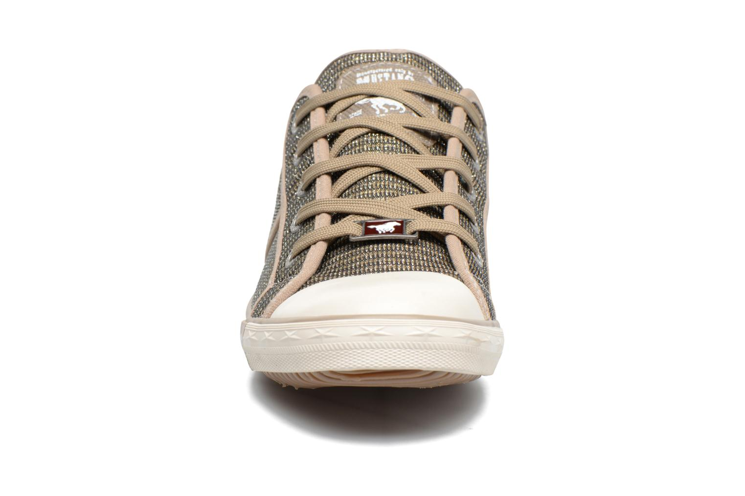 Baskets Mustang shoes Pitaya Or et bronze vue portées chaussures