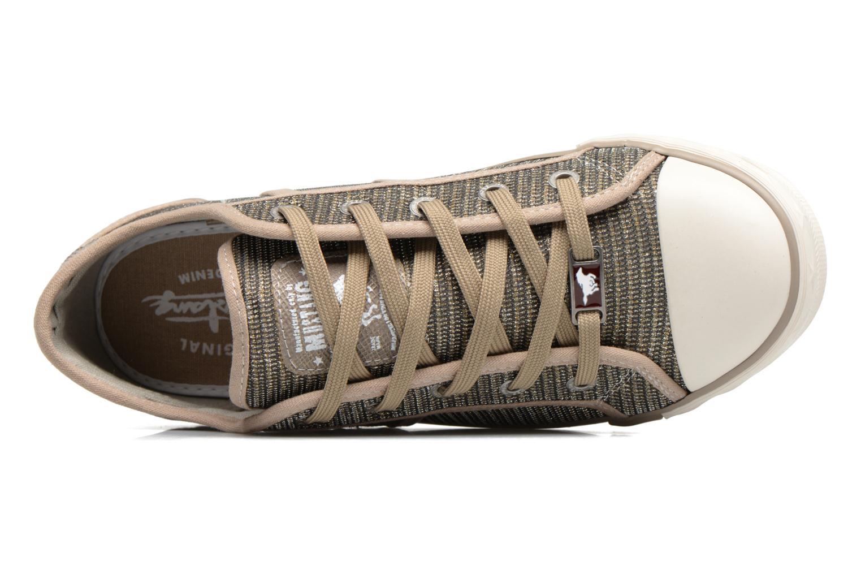 Baskets Mustang shoes Pitaya Or et bronze vue gauche