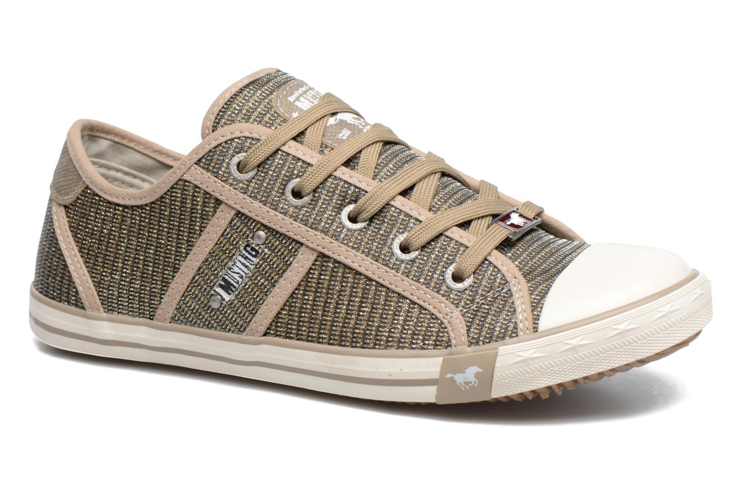 Baskets Mustang shoes Pitaya Or et bronze vue détail/paire