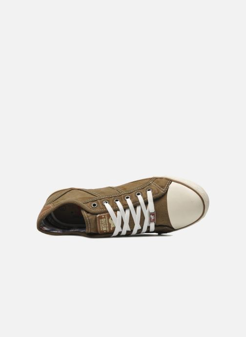 Trainers Mustang shoes Tista Brown view from the left