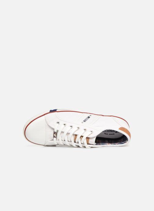 Sneaker Mustang shoes Tista weiß ansicht von links