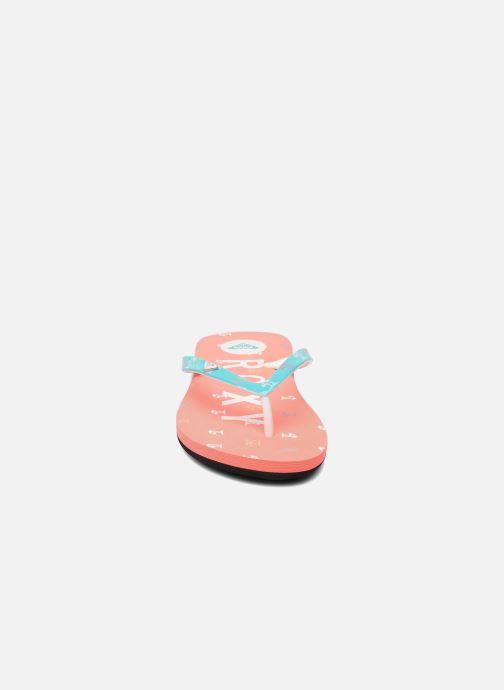 Tongs Roxy RG PEBBLE V K Rose vue portées chaussures