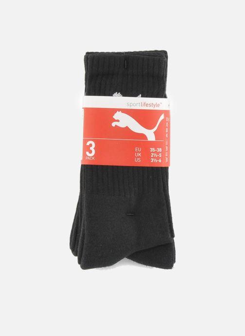 Chaussettes et collants Puma Socks SPORT CREW - LOT DE 3 Noir vue derrière