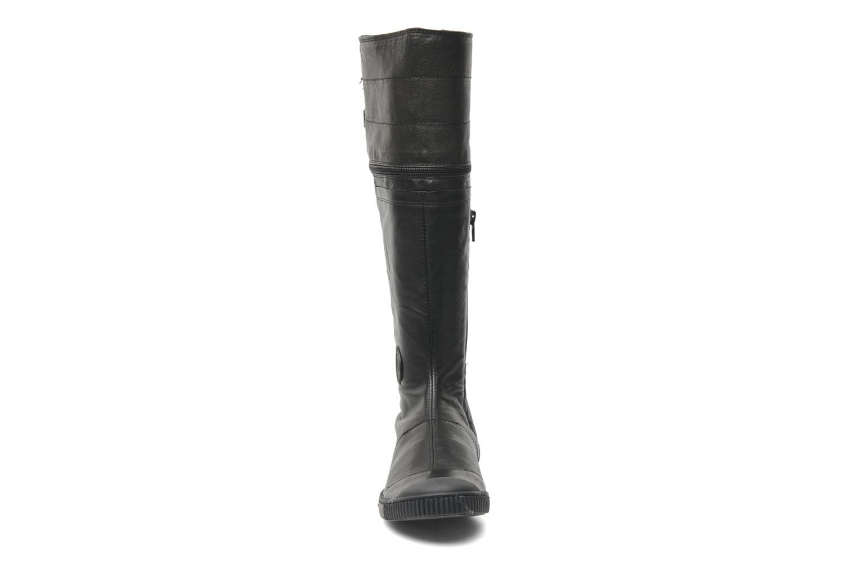 Bottes Pataugas Bonito Noir vue portées chaussures