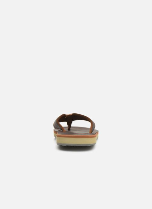 Flip flops Quiksilver Carver Nubuck Brown view from the right