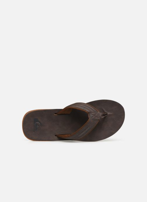 Tongs Quiksilver Carver Nubuck Marron vue gauche