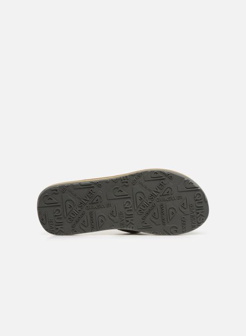Tongs Quiksilver Carver Nubuck Marron vue haut