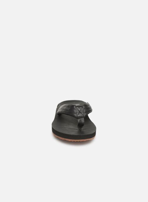 Tongs Quiksilver Carver Nubuck Noir vue portées chaussures
