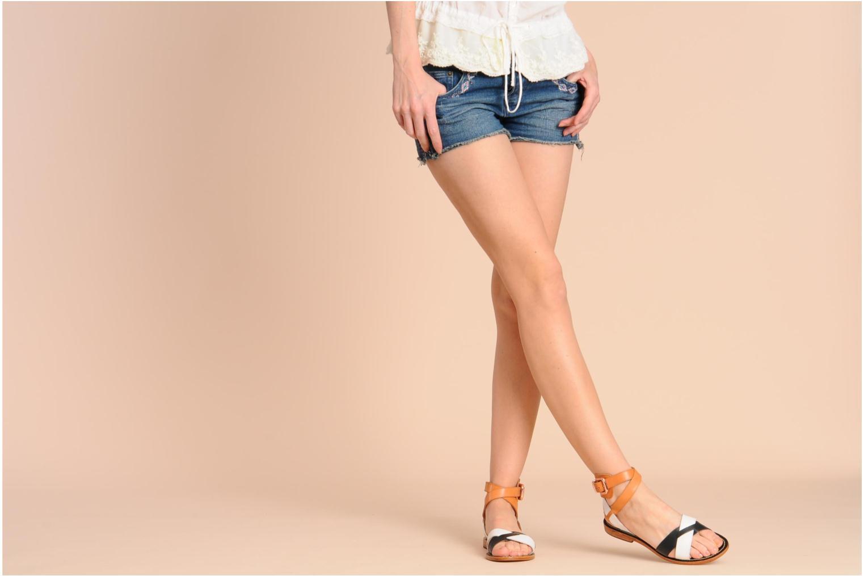 Sandales et nu-pieds Mellow Yellow Patchichi Marron vue bas / vue portée sac