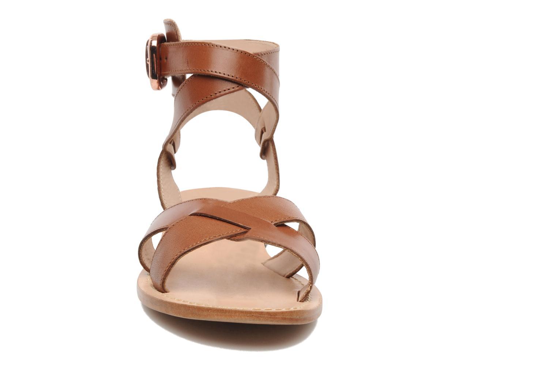 Sandales et nu-pieds Mellow Yellow Patchichi Marron vue portées chaussures