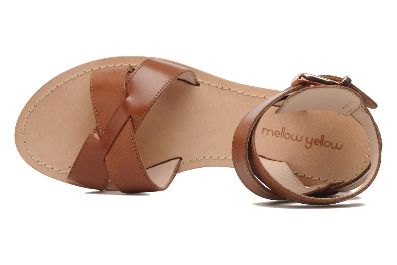 Sandales et nu-pieds Mellow Yellow Patchichi Marron vue gauche