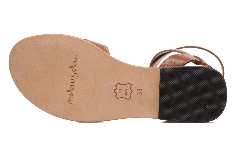 Sandales et nu-pieds Mellow Yellow Patchichi Marron vue haut