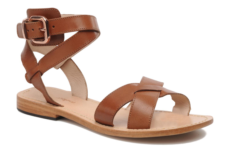 Sandales et nu-pieds Mellow Yellow Patchichi Marron vue détail/paire